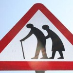 "Belgium, Netherlands, Great Britain: ""Elderly people crossing"" road signs"