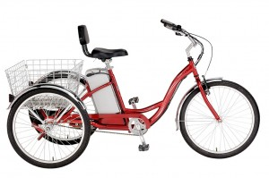 The tricycle allows seniors having balance problems to relive the bike rides pleasure.