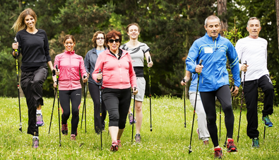 Roselyne Bachelot, ex health and sports minister, also enjoys the Nordic walking
