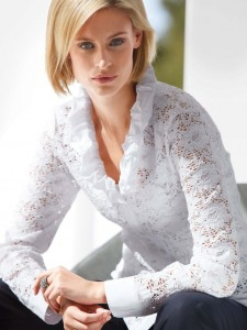 Lace blouse from Peter hahn
