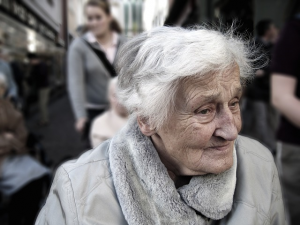 dependent elderly woman