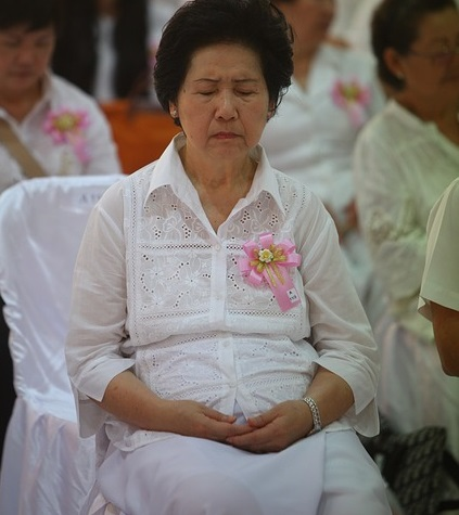 Thailand elderly woman demographic transition