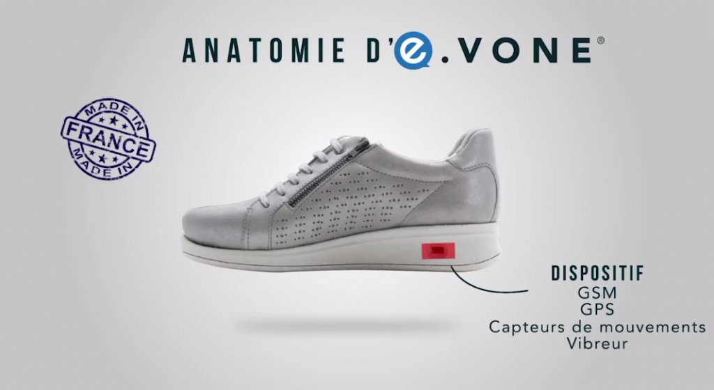 E-vone smart shoe for elderly people