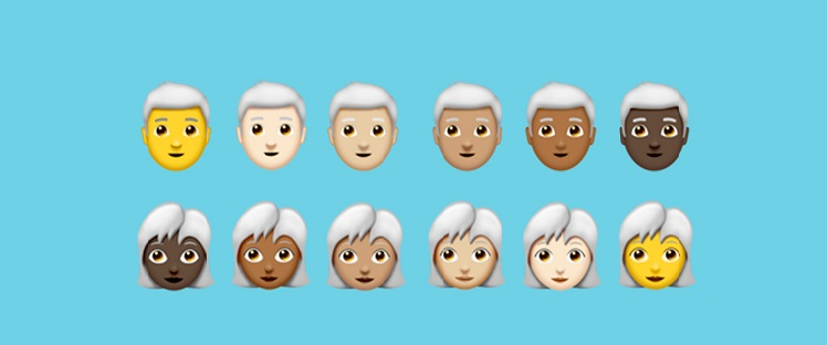 When the new emojis get a touch of grey…